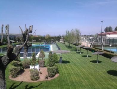 Jardín del Club de tenis Manzanares